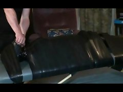 Serious Latex and Plastic Wrap Mummification for bratt