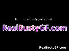 Busty blond GF posing for webcam