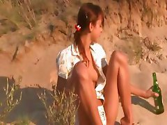 Sweet natasha coed naked on the beach