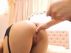 Doggy fucked babe on cam
