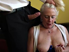 Granny naughty carol is hungry for a very dirty fucking