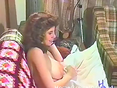 Incredibly sexy vintage porn clip with a lustful horny couple