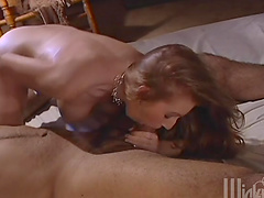 Nasty girl Pason gives a blowjob and enjoys sex in the cowgirl pose
