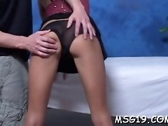 tanned sweetie enjoys dick ride
