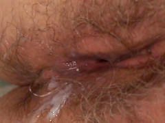 Blonde granny is fucked silly by a hard cock