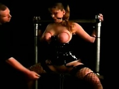 Big tits blondie loses her mind with painful tits punishment
