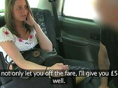 Cute girl fucked by fake driver for cash