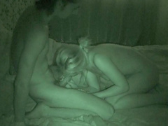 Night vision video features fuckers having sex