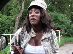 Jai James In Ebony GI Fucks big white cock