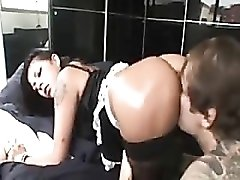 French maid with fabulous tits fucked in the ass