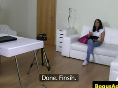 Casted euro fucked in mmf threeway