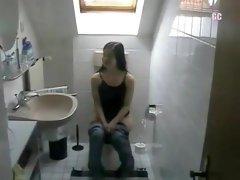 German students on toilet