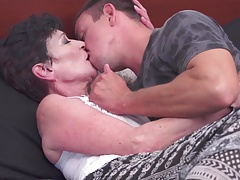 Taboo porn with granny fucking fresh young meat