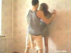 Lustful Amateur Russian Teen Enjoys Rough Sex Indoors