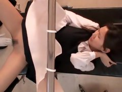 Sexy yum-yum fingered by asian gynecologist in voyeur movie