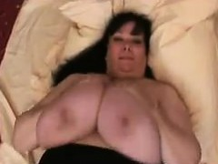 Big Woman Plays With Her Big Breasts