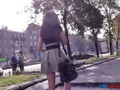 Hidden upskirt cam captures amazing athletic butt
