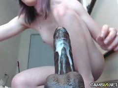 Hot Amateur Cam Babe Fucks BBC Toy Hard on Live Sex Cams! pt 3