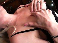 Kinky sensual fantasies of lusty blonde MILF Margaret Holt come true