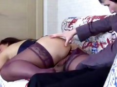 Russian mature mom her guy son! Amateur anal sex!