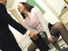 Sexy office bitch totally dominates her slutty colleague