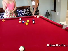 Strip pool party end with foursome sex