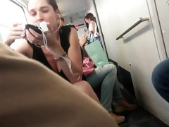 HIDDEN CAM Creep Upskirt on a train