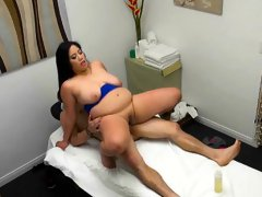 Masseuse Jhenevieve Milks Big Cock Of Client