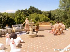 Hardcore group sex with Nella Jay, Cece Stone and Payton Leigh