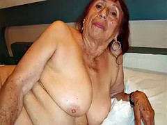 Horny mexico grandma and her amazing naked body