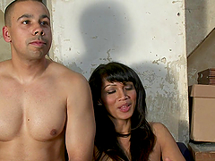 Exotic Shemale in Lingerie Banging a Guy's Asshole