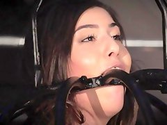 Caged slave bondage whore does her masters bidding BDSM porn