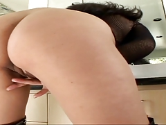 Asian babe and her friend lick pussy and ass