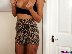 Buxom sexy lady Mia goes solo as she wanna make you hard with her curves