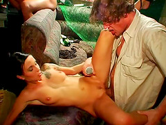 Tantalizing vixens in need of a hard fuckin' got their in a one of a kind party orgy