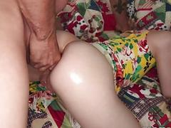 Alex Nova fucked in her ass by step dad