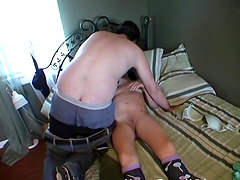 Real amateur couple films their own selfshot sex video