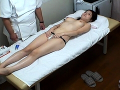 Adorable Japanese babes get their fiery pussies massaged