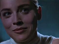 Sharon Stone cunt flashing scene in a movie