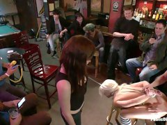 Smoking Hot Blonde Is Fucked In Public Bar - PublicDisgrace