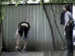 Two teen caught by hidden camera peeing