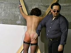 mature hottie's tied up and spanked