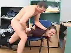 Sexy Blonde Secretary Gets Fucked Against Her Will in the Office