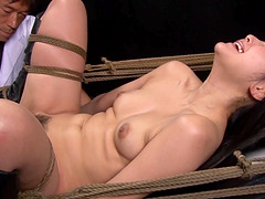 Japanese naked woman tied up for a hot BDSM experience