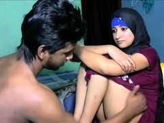 Busty Indian wife having sex with her lover on hidden cam