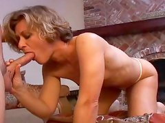 Stunning mature milf is riding on the big dick