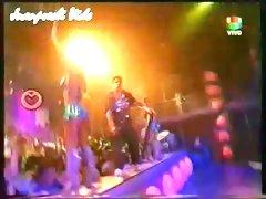 Hot young dancer sluts upskirt on tv