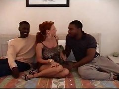 Hot Mature wife fuck two bbc