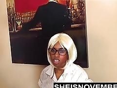 Submissive black secretary gets her fat ass spanked real hard
