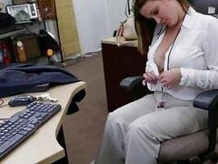 Busty lady needs cash for a plane ticket